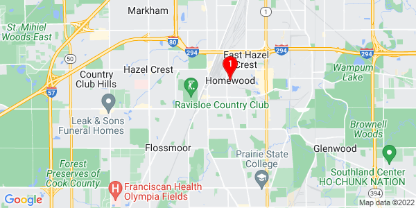 Google Map of Homewood, IL
