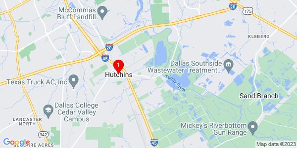 Google Map of Hutchins, TX