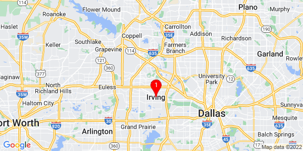 Google Map of Irving, TX