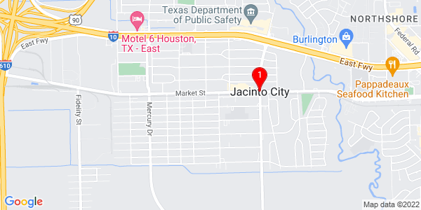 Google Map of Jacinto City, TX