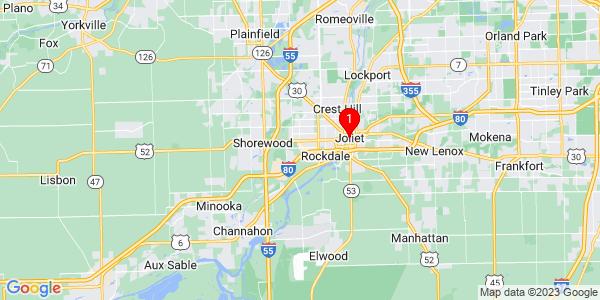 Google Map of Joliet, IL