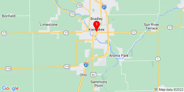 Google Map of Kankakee, IL