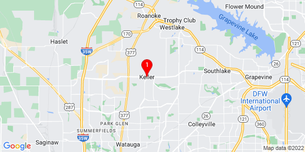 Google Map of Keller, TX