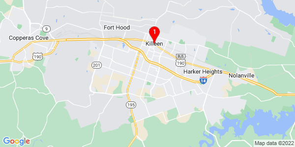Google Map of Killeen, TX