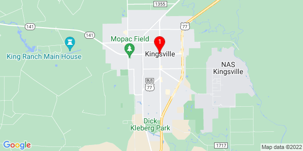 Google Map of Kingsville, TX