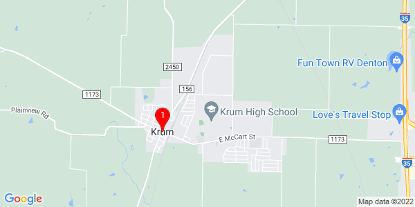 Google Map of Krum, TX