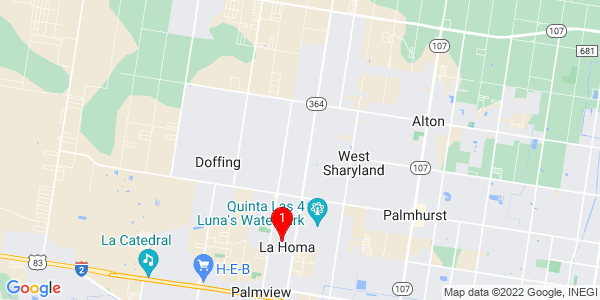 Google Map of La Homa, TX