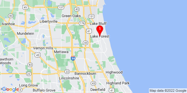Google Map of Lake Forest, IL