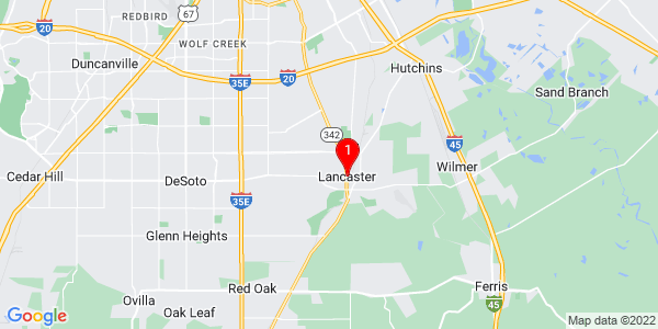 Google Map of Lancaster, TX