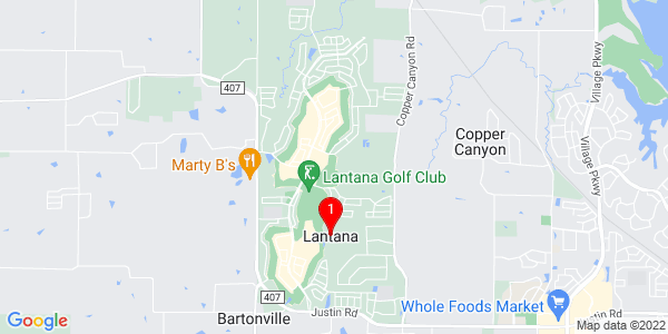 Google Map of Lantana, TX