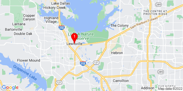 Google Map of Lewisville, TX