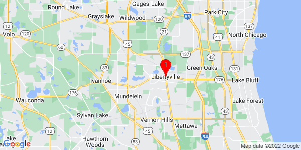 Google Map of Libertyville, IL