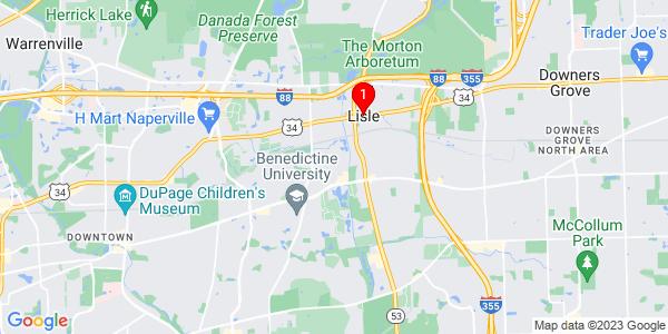 Google Map of Lisle, IL