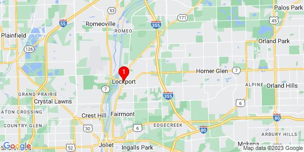 Google Map of Lockport, IL