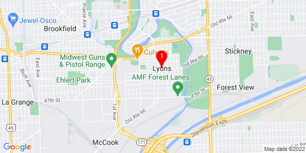 Google Map of Lyons, IL