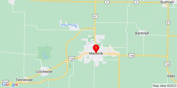 Google Map of Macomb, IL