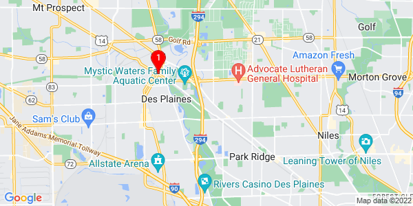 Google Map of Maine, IL