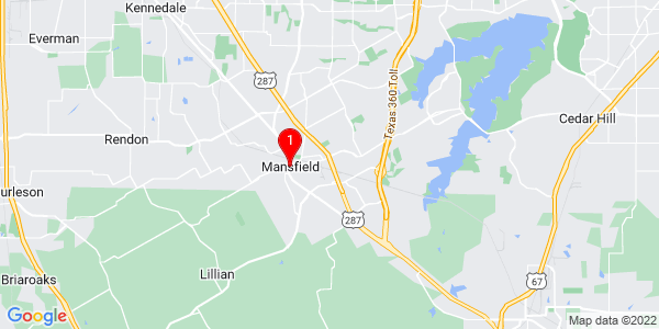 Google Map of Mansfield, TX