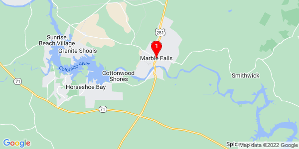 Google Map of Marble Falls, TX