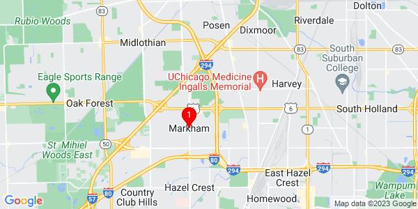 Google Map of Markham, IL