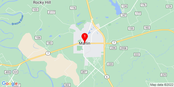 Google Map of Marlin, TX
