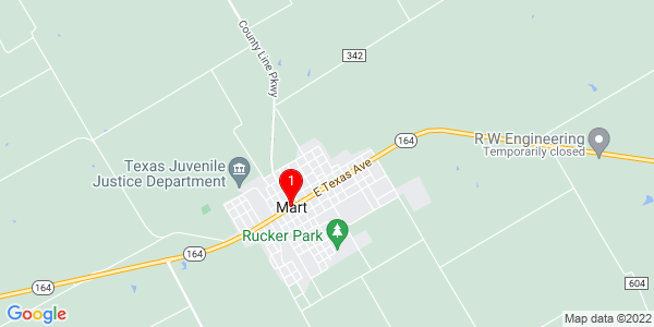 Google Map of Mart, TX