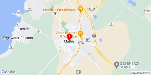 Google Map of Mathis, TX