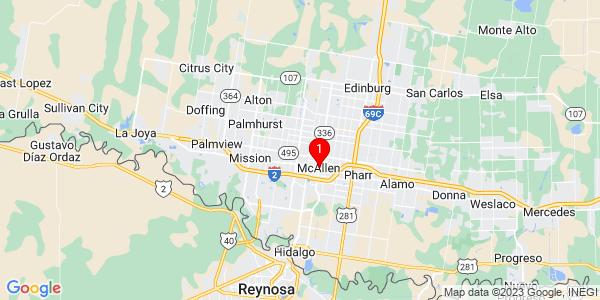 Google Map of McAllen, TX