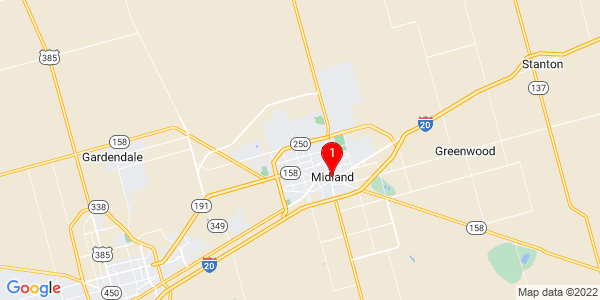 Google Map of Midland, TX