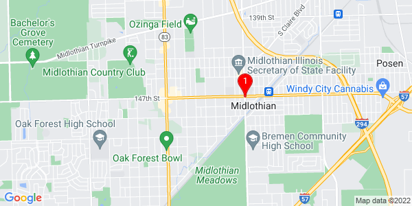 Google Map of Midlothian, IL