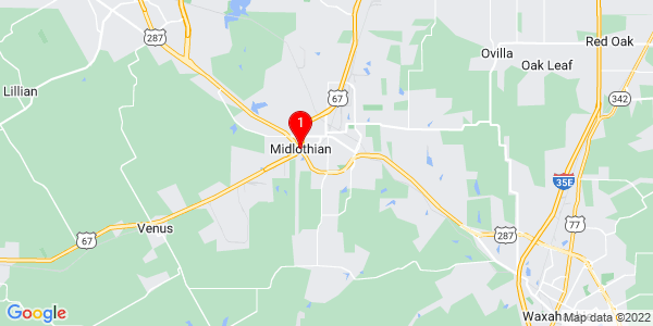 Google Map of Midlothian, TX
