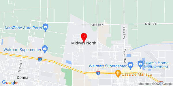 Google Map of Midway North, TX