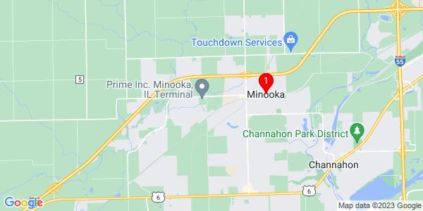 Google Map of Minooka, IL