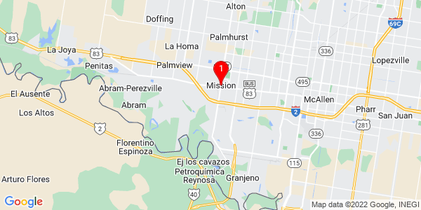 Google Map of Mission, TX