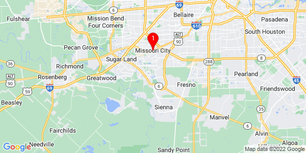 Google Map of Missouri City, TX