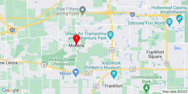 Google Map of Mokena, IL