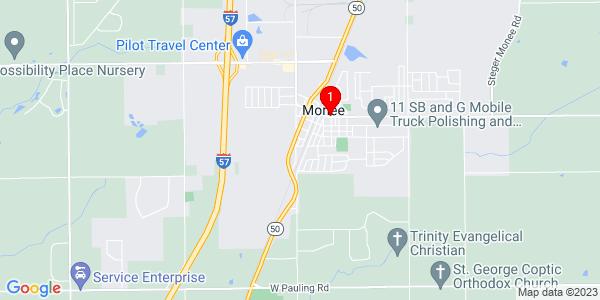 Google Map of Monee, IL