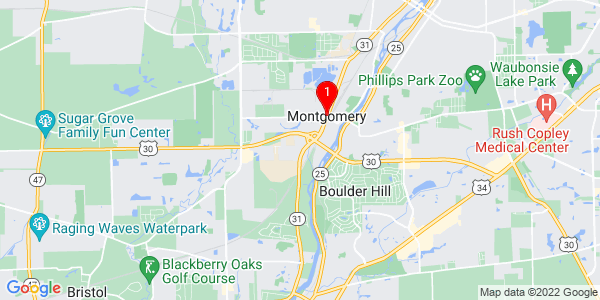 Google Map of Montgomery, IL