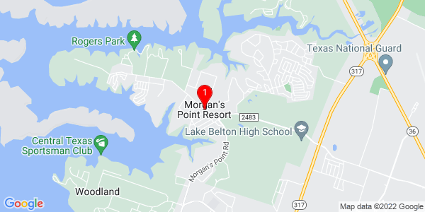 Google Map of Morgan's Point Resort, TX