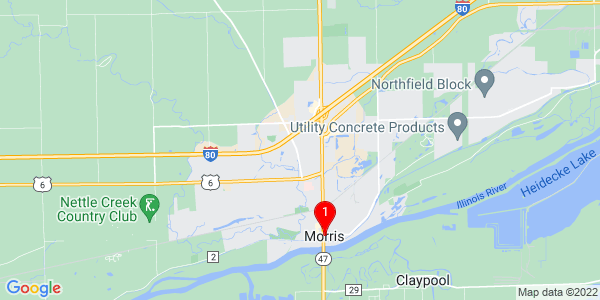 Google Map of Morris, IL