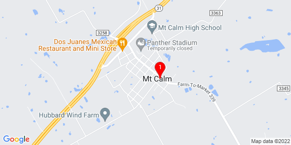 Google Map of Mount Calm, TX