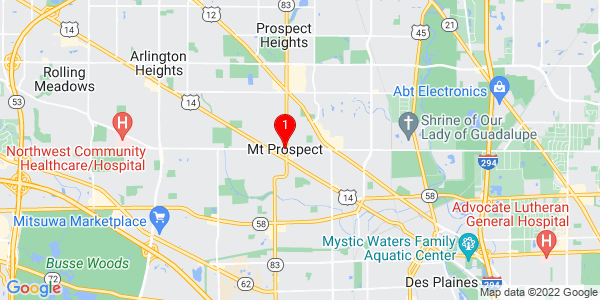 Google Map of Mount Prospect, IL