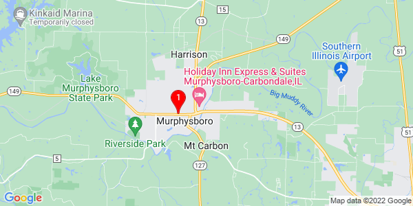 Google Map of Murphysboro, IL