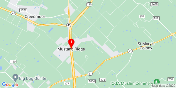 Google Map of Mustang Ridge, TX