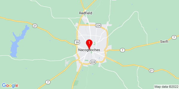 Google Map of Nacogdoches, TX