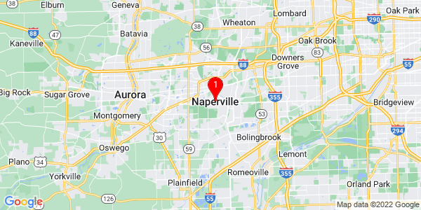 Google Map of Naperville, IL