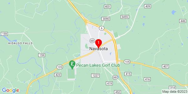 Google Map of Navasota, TX
