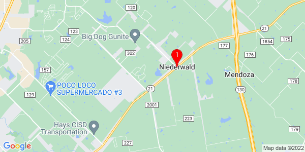 Google Map of Niederwald, TX