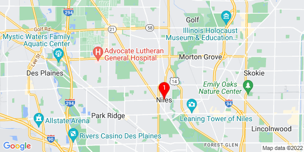 Google Map of Niles, IL