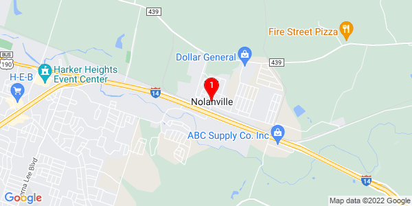 Google Map of Nolanville, TX